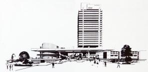 Budova SHD Komes v Mostě