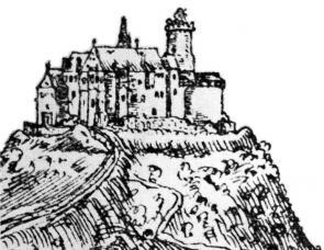 """Že je Hněvín romantická """"replika"""" původního hradu asi víte, ale jak se podobá původní zbořené stavbě se moc neví..."""