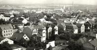 Litvínov pohled k jihozápadu 60.léta