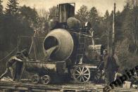 Dělníci u míchačky cca 50. léta.