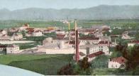 Hist. obr.č. 2: Pohled na tovární komplex z roku 1896, od severu na jih