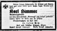Oznámení v Brüxer Zeitung