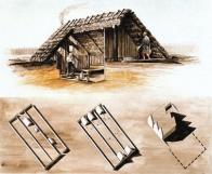 Ideální rekonstrukce zemnice z 13.století na základě nálezů při výzkumu městského jádra Mostu