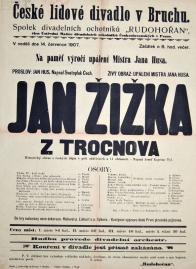 Plakát k divadelnímu představení souboru Rudohořan v Lomu.