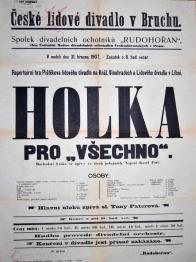 Plakát k divadelnímu představení souboru Rudohořan v Lomu