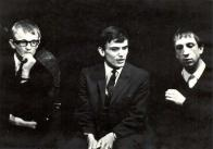 DMD - Večer bez obalu (1965): Zleva: Rudolf Křesťan, Ondřej Suchý, Miroslav Kovářík