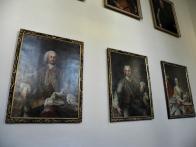 Obrazárna s portréty Valdštejnů na duchcovském zámku