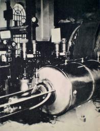 Těžní parní stroj na vodní jámě