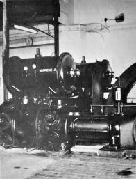 """Kompresorová stanice Dolu Pluto - kompresor """"Škoda"""" vyrobený roku 1934"""