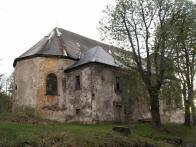 Farní kostel sv. Michala v Nové Vsi v Horách. Smutný pohled v r.2008