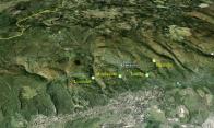 Mapka litvínovské části Krušných Hor s jejich údolími