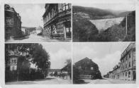 Pohlednice Chudeřína a Hamru z roku 1959. Vlevo nahoře, pohled do dnešní ulice Husovy. Vpravo dole, pohled do Chudeřínské ulice od Bílého sloupu.