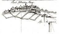 Hora sv.Kateřiny ,detail důlní mapy z 18.století.