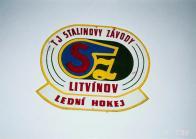Původní znak s názvem.TJ Stalinovy závody Litvínov lední hokej