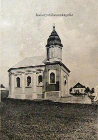 Císařská jubilejní kaple na Dlouhé louce.Foto kolem roku 1900.