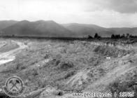 Most - Velkodůl Čs.Armády severní stěna, uložení sedimentů bývalého Komořanského jezera rok 1961