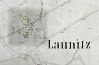 Lounický mlýn na mapě z r.1888