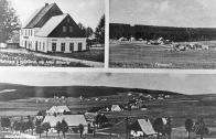 Motzdorf Gasthaus z.Waldesruh Inhaber Albin Glckner.Teilansicht. Uprostřed vpředu domek čp.38 rodiny Pehneltových