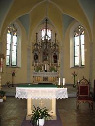 Kostel sv.Barbory - hl.oltář