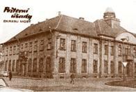 Hlavní poštovní úřad Most 1 v době šedesátých let 20.století