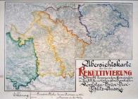 Mapový přehled o potřebě rekultivací z roku 1906