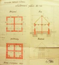 Součástí výstavby domků své doby,by i tzv.šupny - kůlny. I u těchto objektů,  nalezneme soulad mezi účelností a estetikou