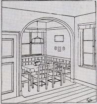 Interiér Librových domků - kuchyně