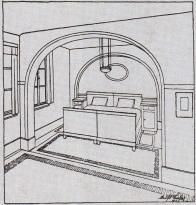 Interiér Librových domků - ložnice