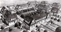Ukázka návrhu hornické osady v Bílině, podobnost z lomskou je zřejmá