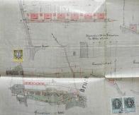 Ulice Uhelná na původním dobovém plánu z r.1888