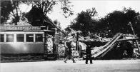 Náhlá smrt vlečného vozu v Růžodolu r. 1944 krátce po bombardování