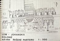 Návrh nerealizované přestavby Johanské kolonie