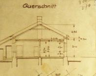 Hornický domek na původních plánech z 29.6.1895