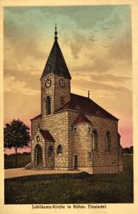 Velká mešní pseudogotická kaple Nanebevstoupení Páně