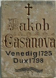 Pamětní deska G. Casanovy