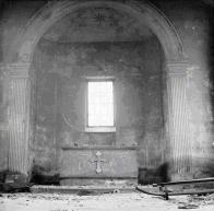 Interiér kaple v Háji u Duchcova cca 60.léta