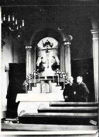 Kaple interiér, ještě funkční, cca 1930 ?