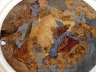 18/Freska v Růžencové kapli : Bůh Otec s anděly - pravděpodobný autor F. Reimboth kolem roku 1900