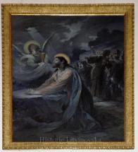 13/ Obraz: Ježíš v Getsemanské zahradě od F. Reimbotha kolem roku 1900 - olej, 230 x 175 cm.