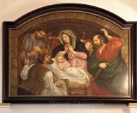 """19/ Obraz """"Narození Páně"""",autor neznámý, olej, 180 x 140 cm"""