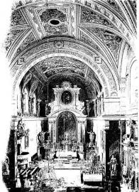 Interiér kostela v r.1931