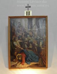 Pán Ježíš padá poprvé pod křížem