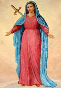 Obraz Panny Marie - Matky důvěry, který je v Jeníkově uctíván.