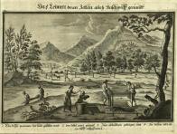 Výroba v obrazech-Litvínovská hraběcí manufaktura na výrobu sukna. Z Knihy Jana Josefa Valdštejna vydané roku 1728