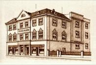 Budova bývalé české záložny čp. 686 kde byly 60. letech prostory hlavní knihovny