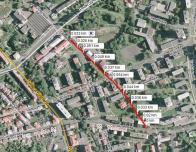 Původní cesta realizovaná F. Nuskou v roce 1892. Zaniká z důvodu prodloužení Ruské ulice a výstavbě domů podél ní kolem r. 1964