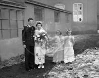 Tradiční hornická svatba v Lomu v r. 1950