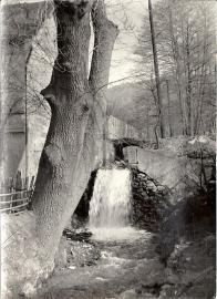 Potok Loupnice,u někdejšího mlýna na pokraji vstupu do Hamerského údolí. Foto 1958.Muzeum Most