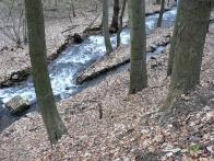 Usměrnění potoka k Pile a hračkárně Marzin v r.2010.
