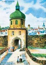 Špitálská brána, kterou se z Mostu vyjíždělo na Teplice, byla zbořena v roce 1829